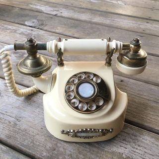 Vintage Onyx Rotary Telephone - Decoration Only
