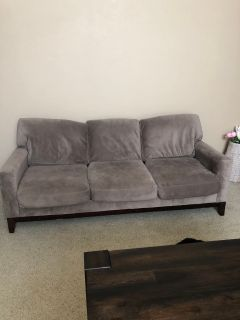 Suede couch, very good condition!