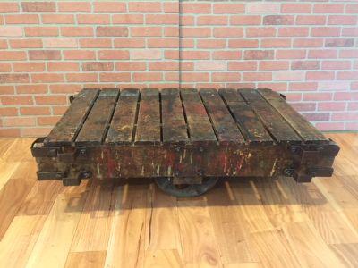 Vintage Industrial Cart/Coffee Table
