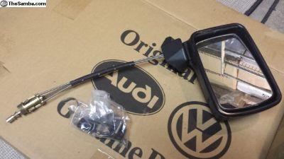 1979 to 1993 Satin Black Adjustable Mirror NOS