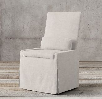 Restoration Hardware Belgian Sipcovered Armless Side Chairs