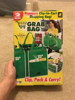 2 Bags for Carts with built-in cart grab clips.