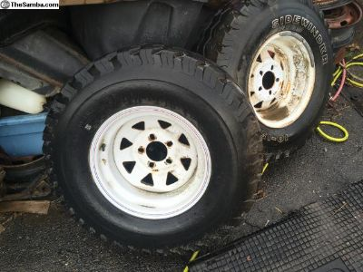 15 inch Baja wheels wide rims with tires Ford w/ad