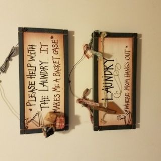 Two wall hangings