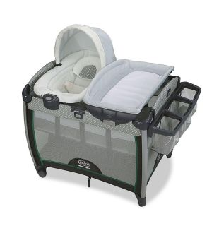 Graco Pack N Play Quick Connect Portable Bouncer with Bassinet in Albie-NEW