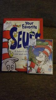 EUC Dr. Seuss Children's Book & BN The Cat in the Hat Christmas DVD $12