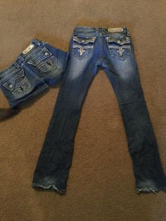 Lot Rock Revival jeans and shorts size 28 women