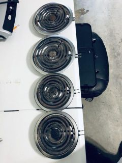 Four used electric burners