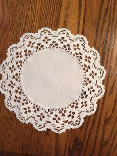 9.25 Vintage Linen and Floral Crocheted Lace Doily