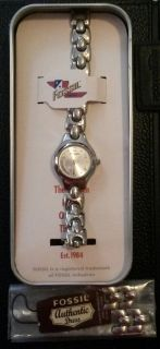 Fossil watch with tin gift box