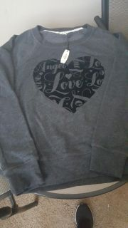 New with tags Victoria's Secret extra small comfy gray sweatshirt