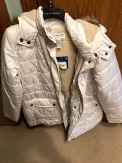 NWT white winter coat