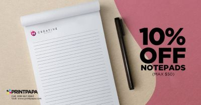 Get 10% off (max $50) on 25 pages Notepad