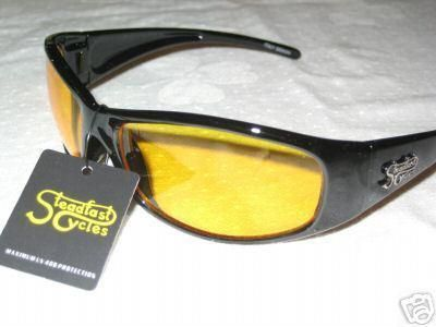 Purchase Steadfast Cycles sun glasses night riding yellow tinted eye protection wear motorcycle in Canyon Country, California, US, for US $14.00