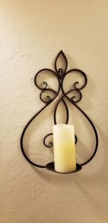 set wall scone + candle