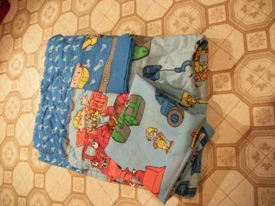 #3002 BOB THE BUILDER TODDLER BED OR CRIB QUILT SET