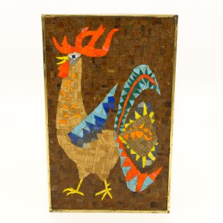 Evelyn Ackerman Style Rooster Bird Mosaic Wall Art