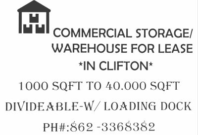 Industrial Warehouse for rent in Clifton