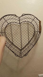 Metal heart basket, I have two available