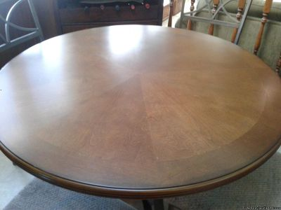 "45"" ROUND CHERRY FINISH TABLE TOP"