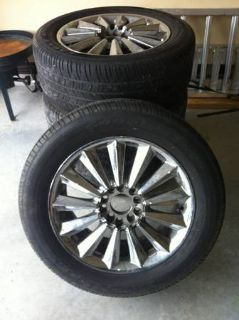 Set of 17 chrome rims with almost new tires