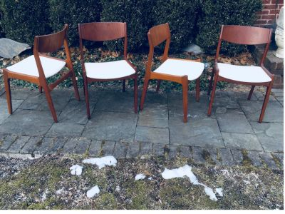 Vintage MCM Danish Modern Teak Dining Room Chairs