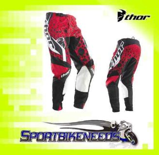 Sell Thor 2012 Phase Vented Amazon Pants Red Black SIze 28 motorcycle in Elkhart, Indiana, US, for US $89.95