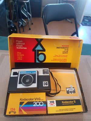 KODAK INSTAMATICX-15 COLOR CAMERA OUTFIT