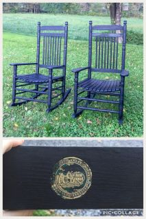 Set of 2 Black Cracker Barrel Rocking Chairs, GUC hav been repainted, asking $150 for both (cost $320 for both)