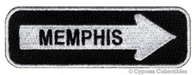 Sell MEMPHIS ROAD SIGN BIKER PATCH embroidered iron-on MOTORCYCLE VEST EMBLEM new motorcycle in Austin, Texas, United States