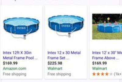 12 ft index metal frame pool
