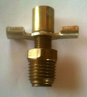 "Purchase Brass 1/4"" Block Drain Cock B250DC for BBC & SBC @ Speed Tech motorcycle in Cary, Illinois, United States, for US $9.99"