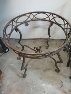 Gold Toned Cast Iron Coffee Table Base