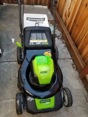 Greenworks Pro Electric Lawnmower