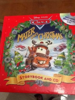 """EUC! HB! With CD! Disney! Pixar! CARS! """"Matter Saves Christmas"""" Children's Storybook And CD! NS Meet AB park or PPU"""