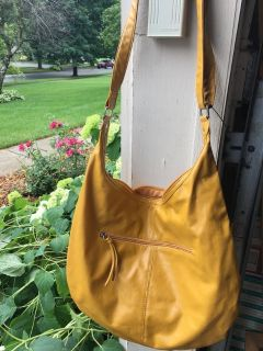 Brand new beautiful mustard-yellow purse