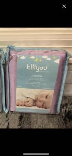 NEW never used Till You Crib Skirt lavender 27X51 +14 ($17.99 Retail) $ 6