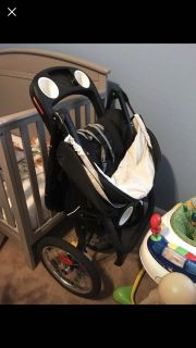 Infant car seat and matching jogging stroller