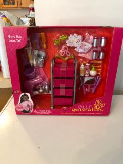 Our generation new doll berry salon set