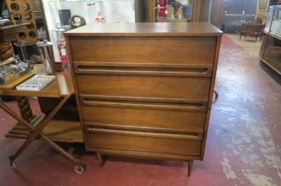 Vintage MCM Walnut Busset Chest & Dresser Set
