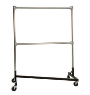 Commercial Double Rod Clothing Rack