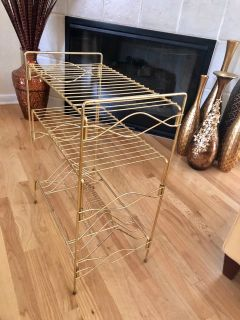 Vintage Mid-Century Modern 3-Tier Stereo and Vinyl Storage Stand