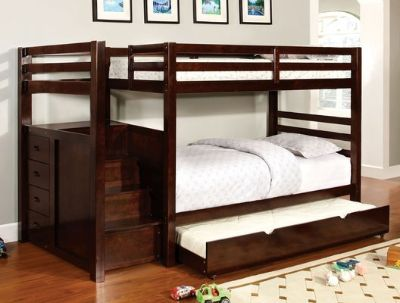 TWIN / TWIN BUNK BED W STORAGE FREE DELIVERY
