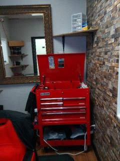 Tool chest on wheels excellant condition.Electical outlet attatched