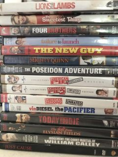 Assorted DVD s .50 cents each/make offer for all 68