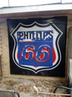 Vintage Phillips 66 Neon Sign Cover