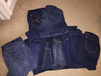 8 Size S or M long maternity jeans