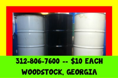 $10 METAL STEEL BARREL BARRELS DRUM DRUMS BURN BURNING FEED ATLANTA GEORGIA