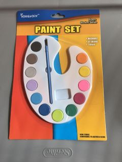 NEW! Palette Paint Set. 12 colors and brush