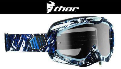 Buy Thor Ally Block Black Blue Dirt Bike Goggles Motocross MX ATV Gogges Googles '14 motorcycle in Ashton, Illinois, US, for US $64.95